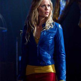 Smallville Supergirl Blue Leather Jacket