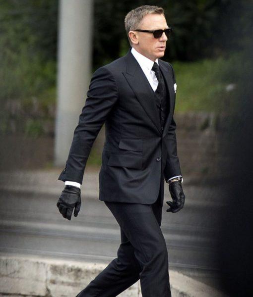 Spectre Daniel Craig Herringbone 3 Piece Suit