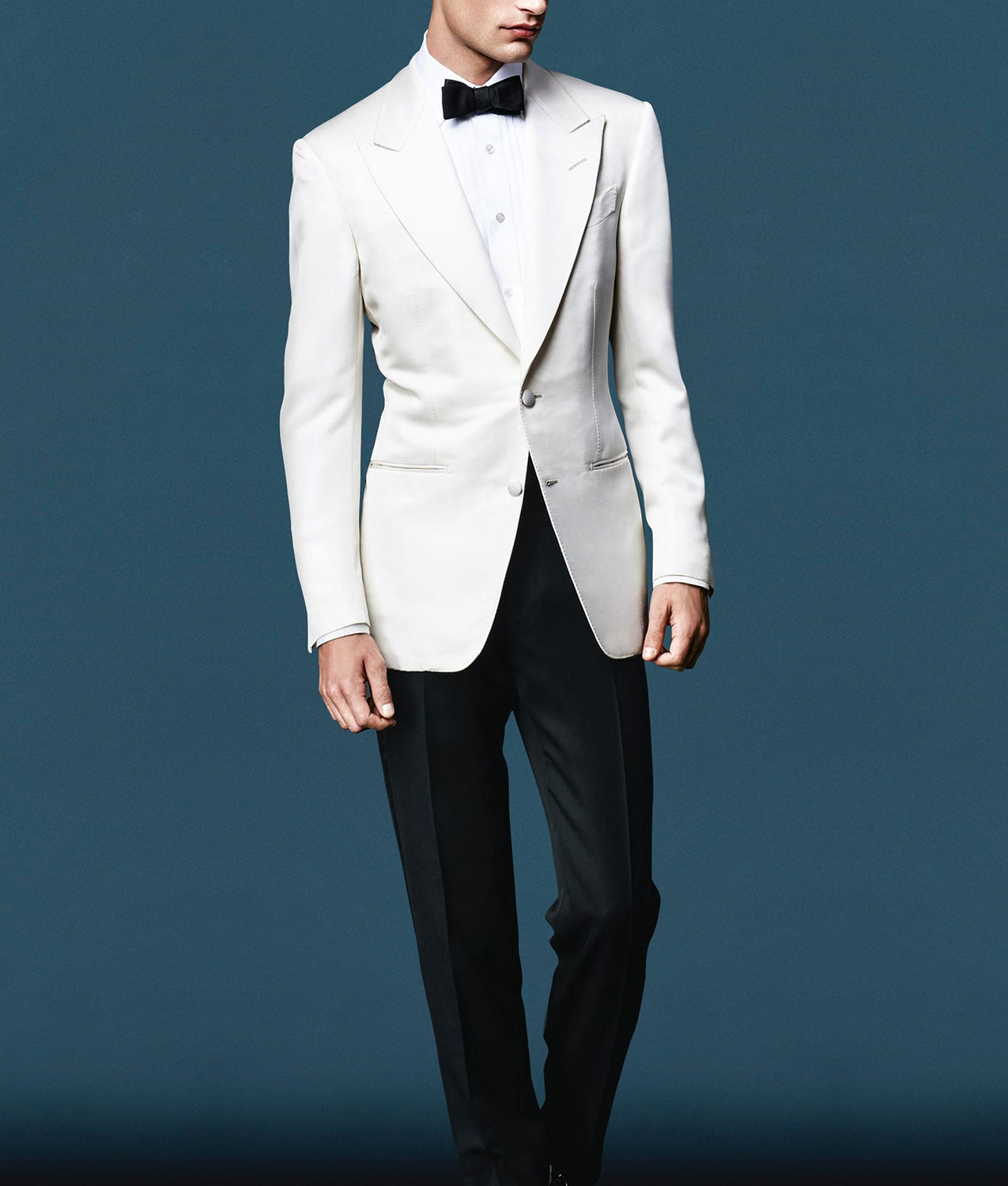 James Bond Spectre Tuxedo Daniel Craig White Ivory Dinner Suit
