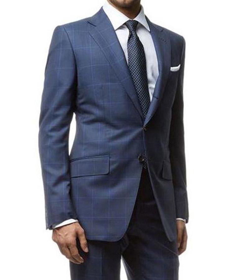 Spectre James Bond Windowpane Blue Suit Usa Jacket