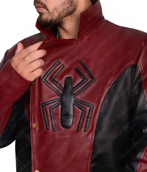 Red And Black The Last Stand Spiderman Leather Jacket