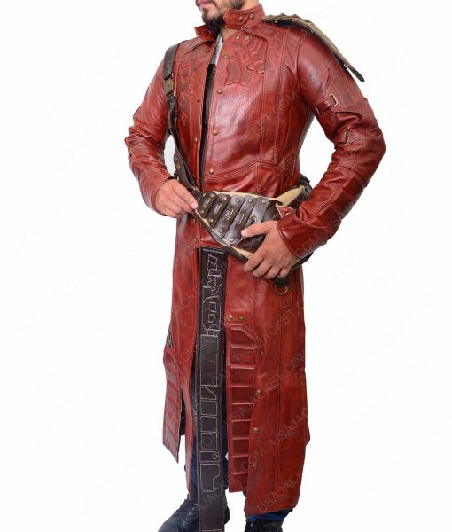 Leather Trench Coat of Star Lord from Guardians of the Galaxy