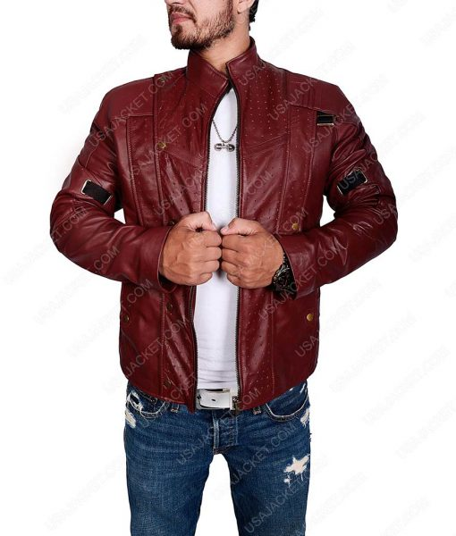 Star Lord Chris Pratt Leather Jacket