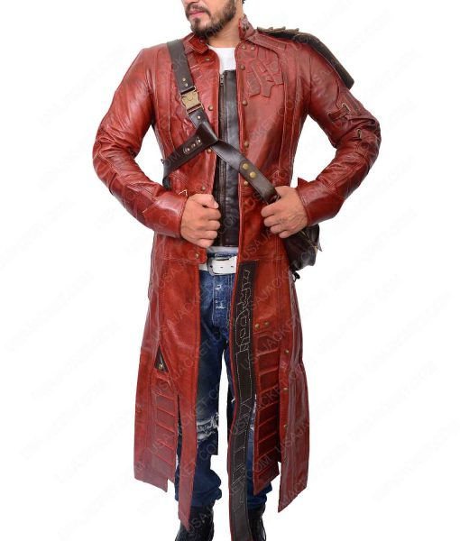 Star Lord Guardians Of The Galaxy Peter Quill Leather Trench Coat