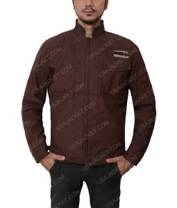 Rogue One A Star Wars Story Diego Luna Captain Cassian Andor Brown Jacket