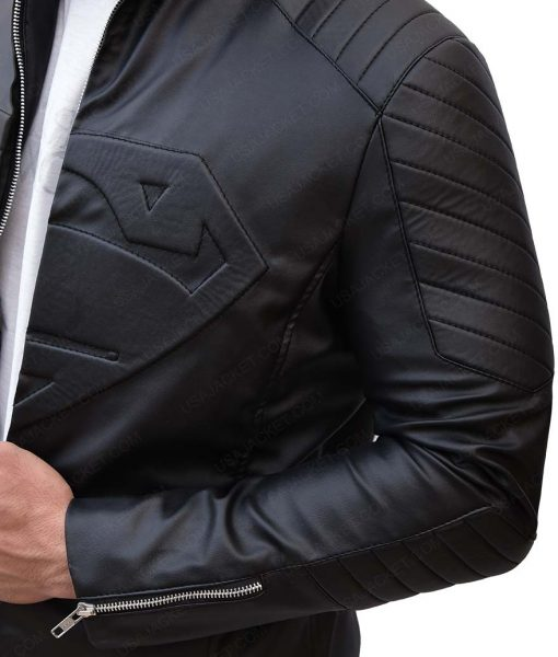 Superman Kent Black Leather Jacket