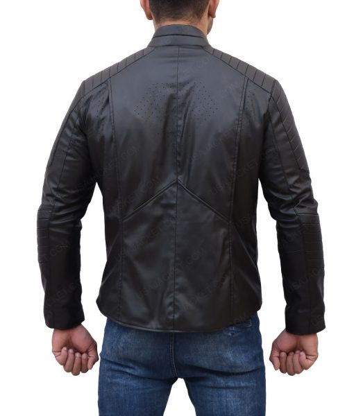 Superman Smallville Clark Kent Black Leather Jacket