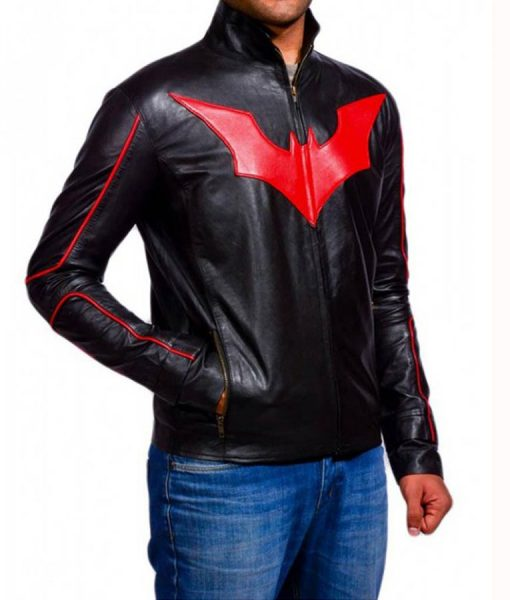 Batman Beyond Red Logo Jacket