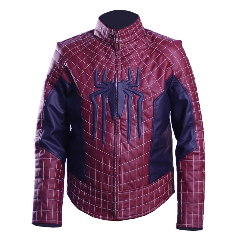 Embossed Spider Logo The Amazing Spiderman Jacket with Padded