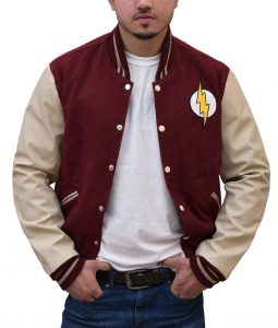 Red Logo Varsity Jacket