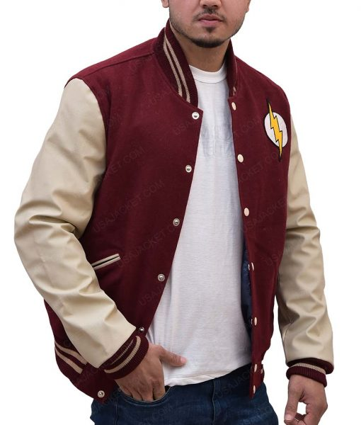 The Flash Red Logo Varsity Jacket