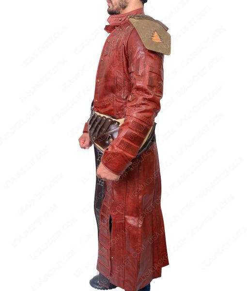 Star Lord Peter Quill Vol 1 Leather Trench Jacket
