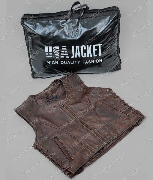 The Walking Dead Danai Gurira Leather Vest