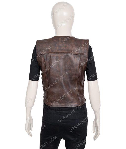 The Walking Dead Michonne Brown Leather Vest