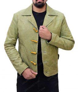Jamie Foxx Django Green Slimfit Jacket