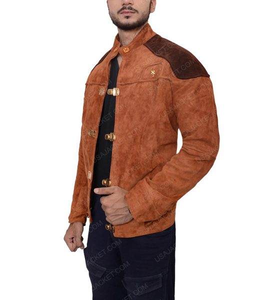 Warrior Viper Pilot Brown Suede Jacket