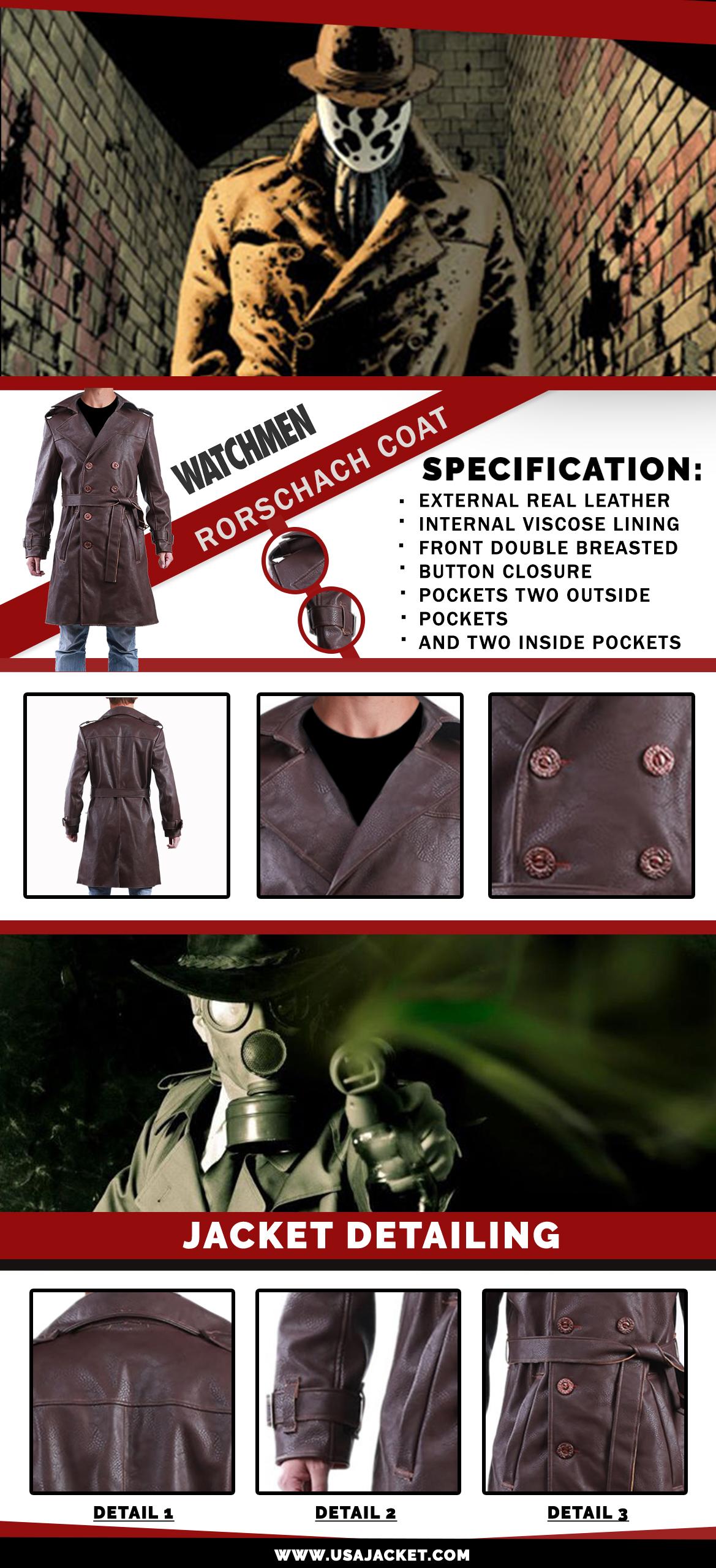 Watchmen Rorschach Coat Infographi