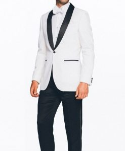 Mens Black And White Tuxedo