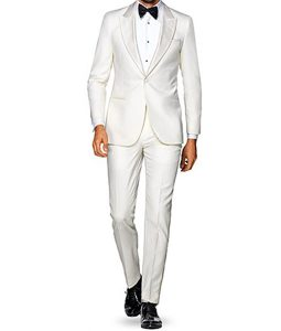 Ivory Tuxedo Suit