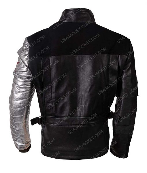 Sebastian Stan Civil War Winter Soldier Bucky Barnes Cotton Black Jacket
