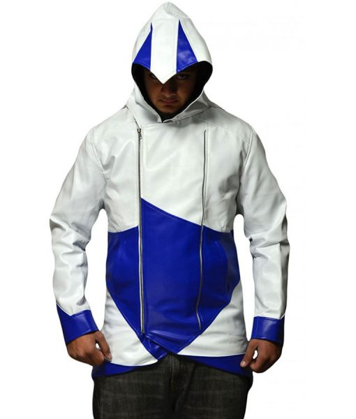 Assassins Creed Blue And White Hoodie
