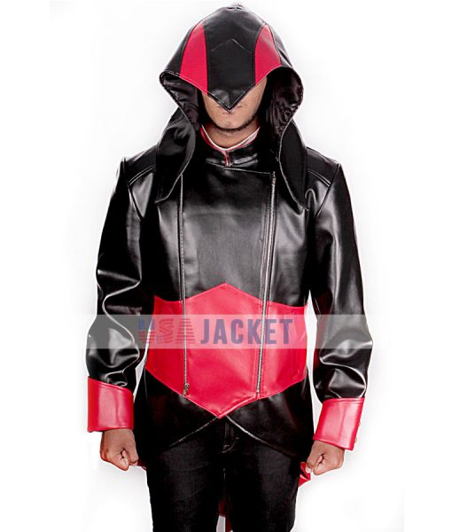 Assassins Creed Red And Black Hoodie