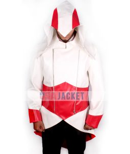 Assassins Creed Red And White Hoodie