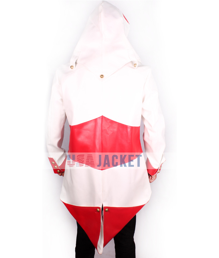 Red and white hoodie