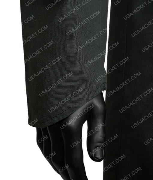 Blade Runner 2049 Officer K Black Leather Fur Shearling Coat