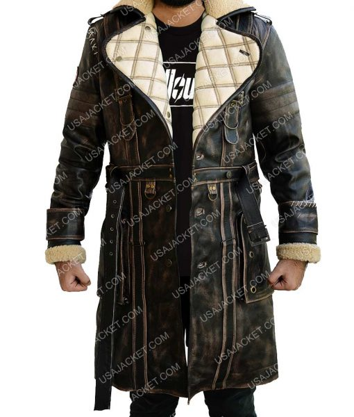 Elder Brown Fur Collar Maxson Jacket