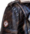 Elder Brown Fur Collar Maxson Long Leather Jacket