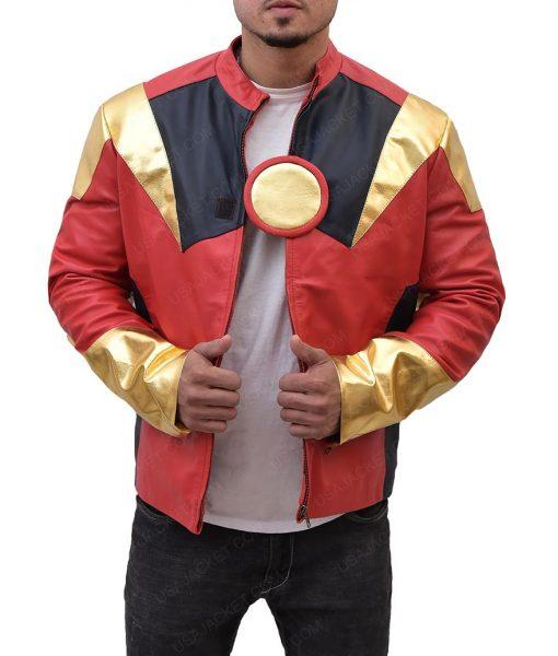Iron Man Slimfit Leather Jacket