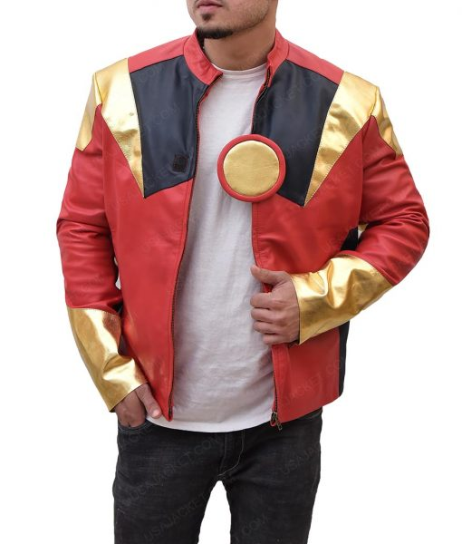 r. Costume Iron Man Red Jacket