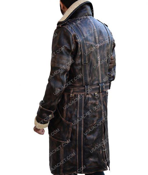 Elder Brown Long Leather Jacket