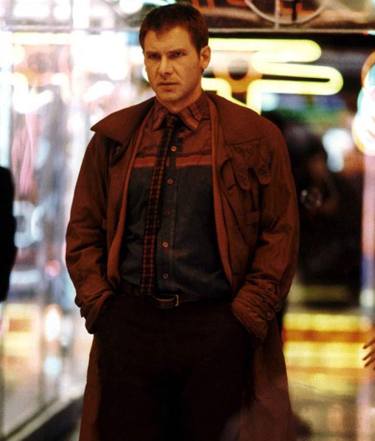 Rick Deckard Harrison Ford Blade Runner 1982 Brown Trench Coat