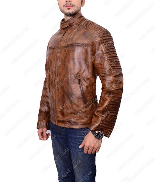 Brown Biker Leather Jakcet