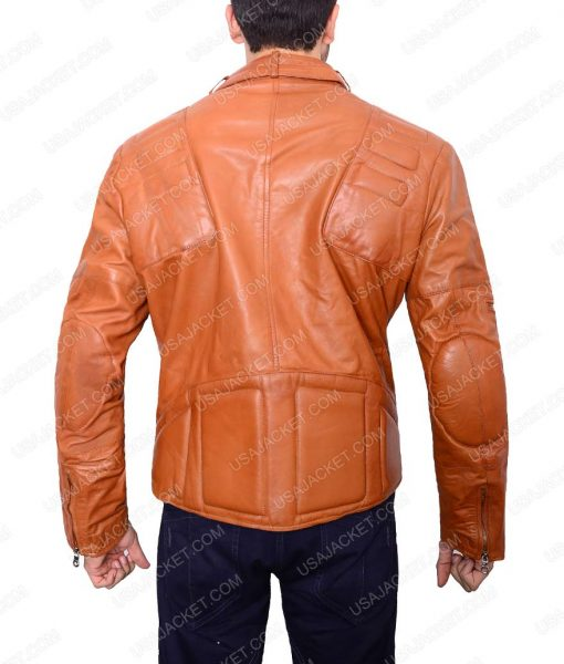 Men's Slim fit Padded Design Leather Jacket