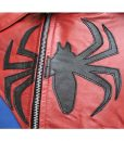 Spiderman Logo Motorcycle Leather Jacket For Men