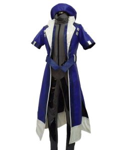 Overwatch Ana Blue Leather Jacket