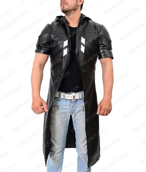 Overwatch Detailed Leather Coat With Padded Vest