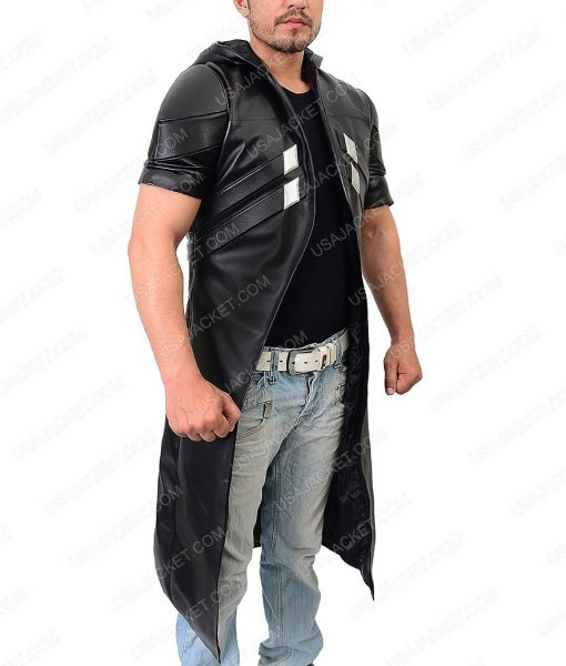 Reaper Overwatch Detailed Leather Coat With Padded Vest