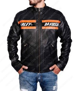 Bill Goldberg Harley Davidson WWE Vistage Black Leather Jacket