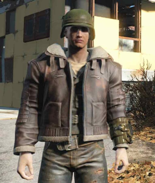 Fallout 4 Bomber Armor Leather Jacket