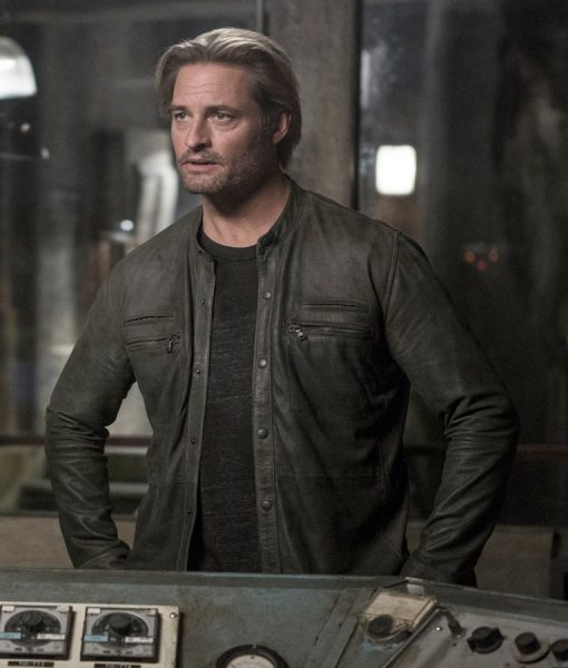 Will Bowman Colony Josh Holloway Grey Leather Jacket