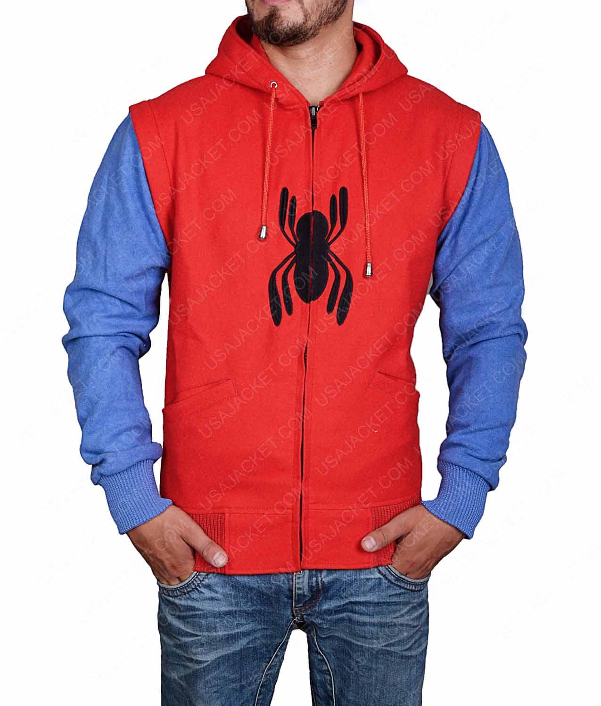 Suit jacket with hoodie