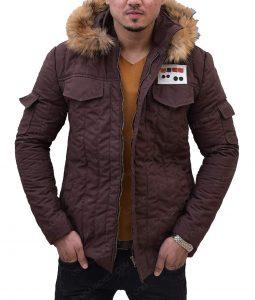 Parka Brown Fur Hooded Jacket