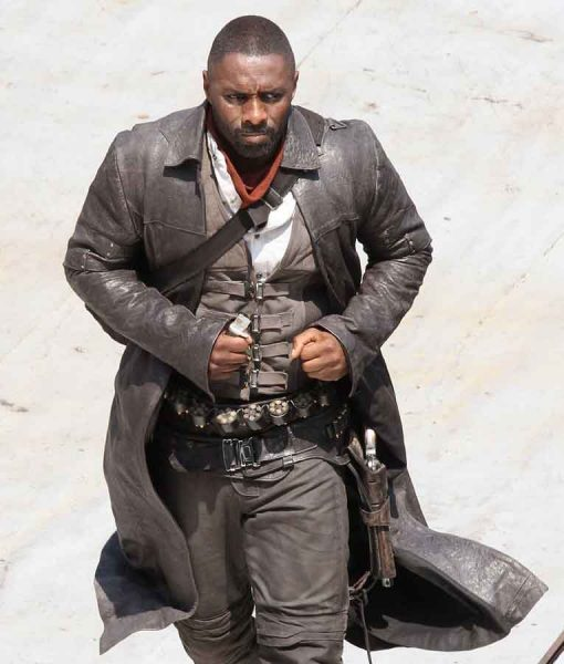 The Dark Tower Idris Elba Leather Coat