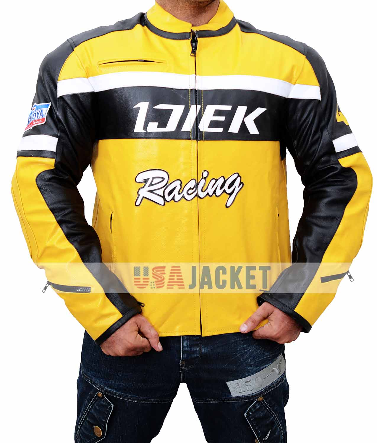 Dead Rising 2 Chuck Greene Jacket In Yellow Leather