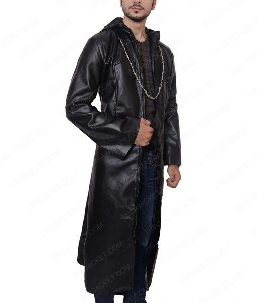 Enigma Organization 13 Long Black Leather Coat