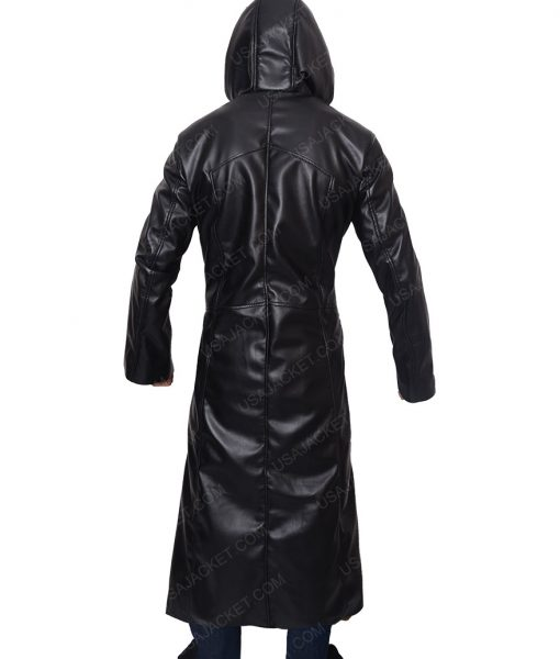 Enigma Organization 13 Long Black Leather Trench Coat